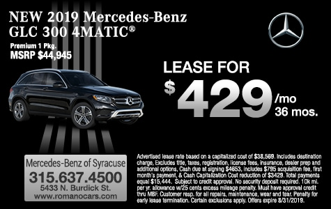 New 2019 Mercedes-Benz GLC 300 SUV Leases  Syracuse and Binghamton NY