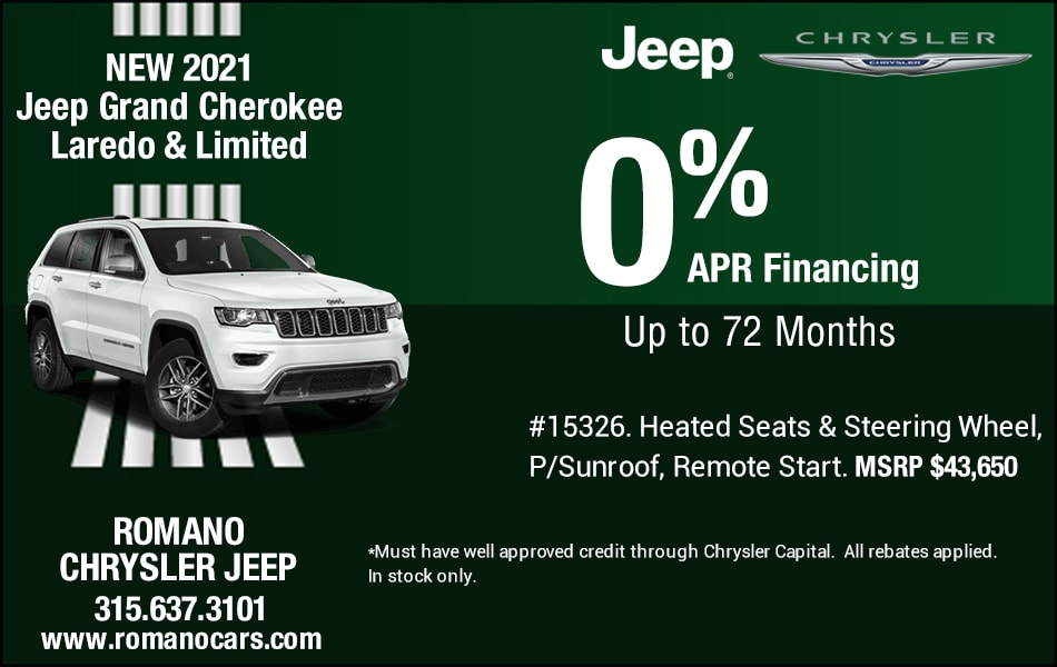New 2021 Jeep Grand Cherokee Special APR