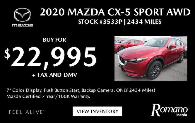 Mazda Certified 2020 CX-5 Sport AWD