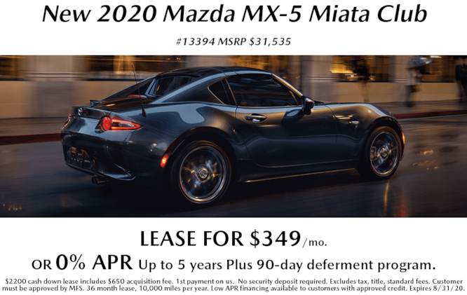 New 2020 Mazda MX-5 Miata Special Offers