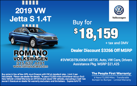 New 2019 VW Jetta Special Offers