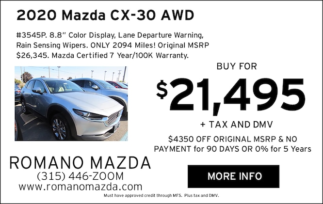 Mazda Certified 2020 CX-30 AWD