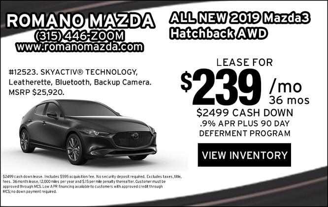 New 2019 Mazda3 AWD Hatchback