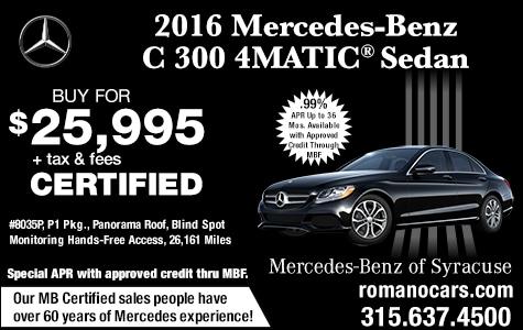 Certified 2016 Mercedes-Benz C 300 4MATIC Sedan