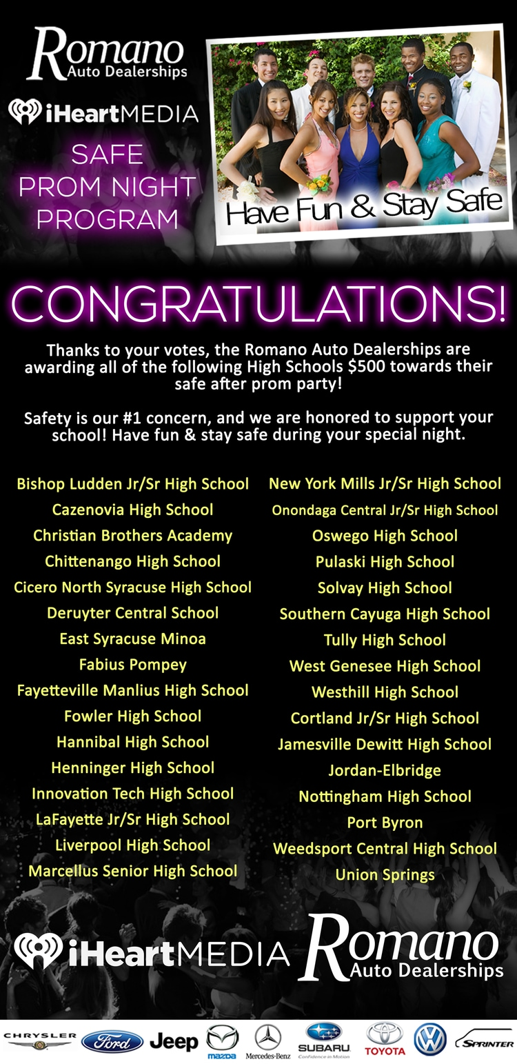 2018 Safe Prom Night Program Winners