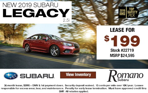 New 2019 Subaru Legacy 2.5i Leases