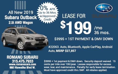 New 2019 Subaru Outback 2.5i Wagon Leases