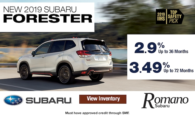 New 2019 Subaru Forester Special Financing
