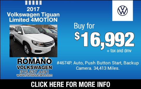 Used 2017 VW Tiguan Limited 4MOTION