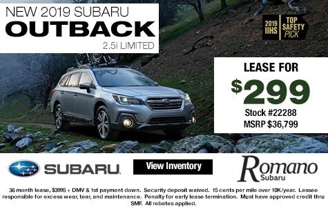 New 2019 Subaru Outback 2.5i Limited Leases