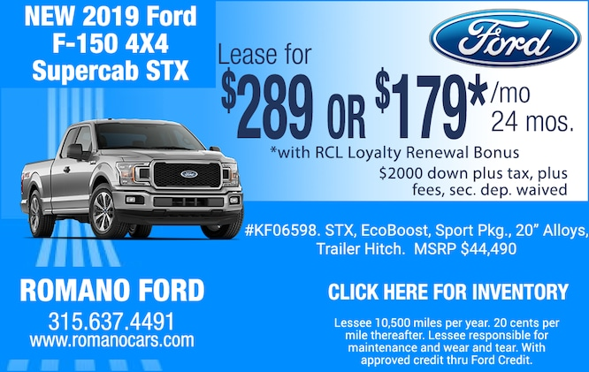 2019 F-150 4x4 STX SuperCab Leases