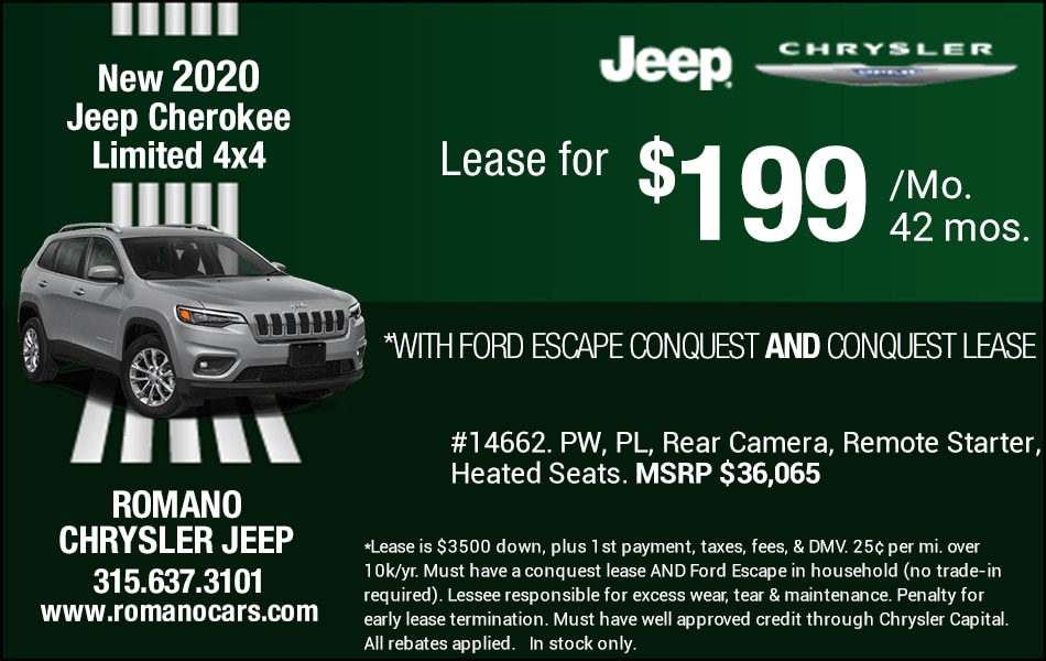 New 2020 Jeep Cherokee Leases