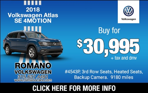 Used 2018 VW Atlas SE 4MOTION