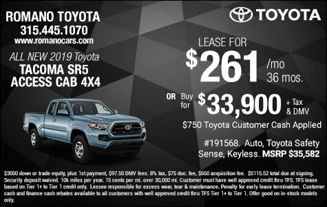 New 2019 Toyota Tacoma SR5 Access Cab 4x4