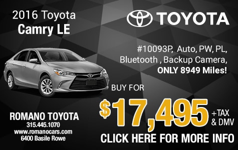 Used 2016 Toyota Camry LE Low Miles!
