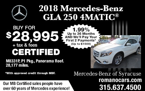 Mercedes Certified 2018 GLA 250 4MATIC SUV