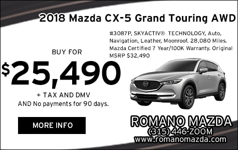 Mazda Certified 2018 CX-5 Grand Touring AWD