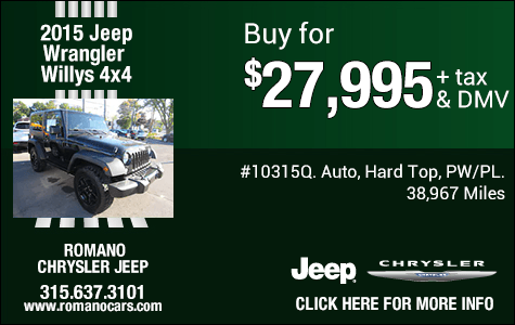 used jeep chrysler deals and specials near me syracuse ny romano chrysler jeep syracuse ny romano chrysler jeep