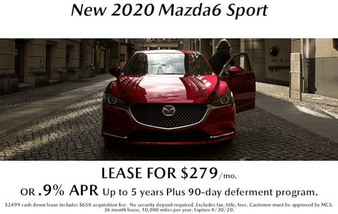 New 2020 Mazda6 Sport Leases