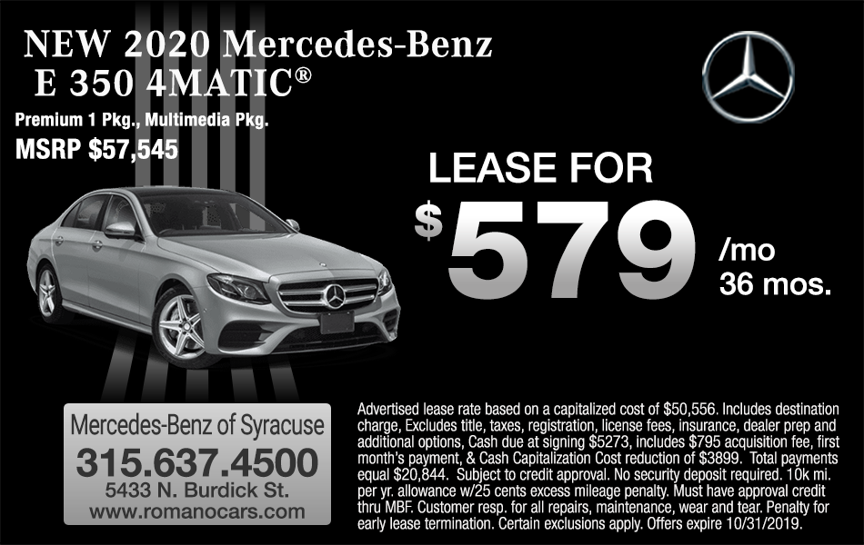 New 2020 Mercedes E 350 4MATIC Leases