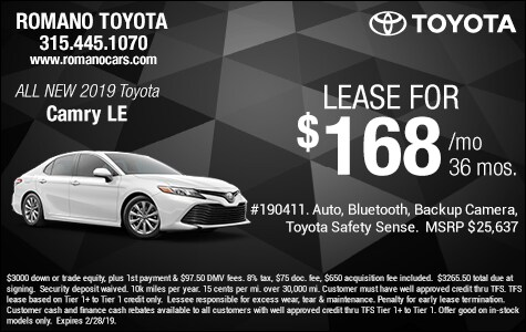 New 2019 Toyota Camry LE Leases