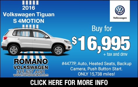 Used 2016 VW Tiguan S 4MOTION
