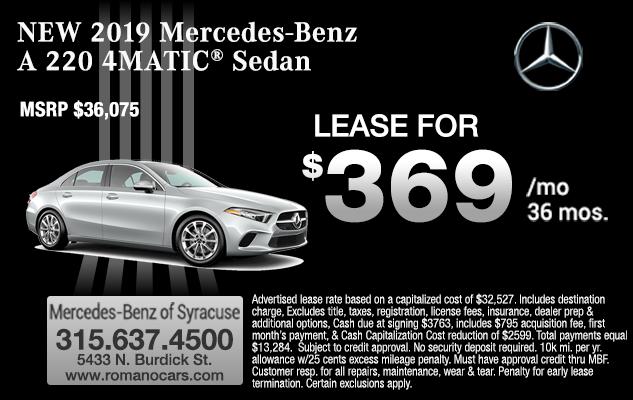 New Mercedes A 220 Sedan Leases