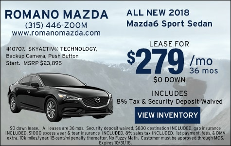 New 2018 Mazda6 Sport Leases