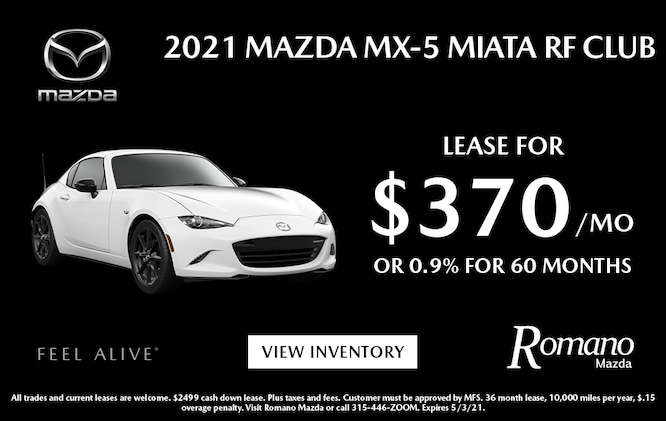 New 2021 Mazda MX-5 Miata RF Club
