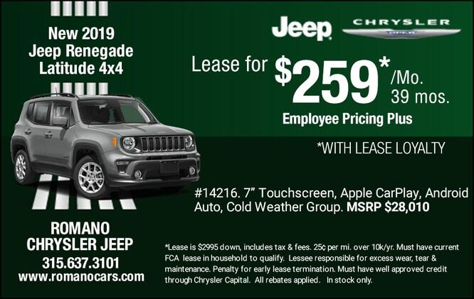 New 2019 Jeep Renegade Latitude 4x4