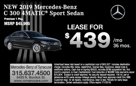2019 Mercedes-Benz C 300 Sedan Lease