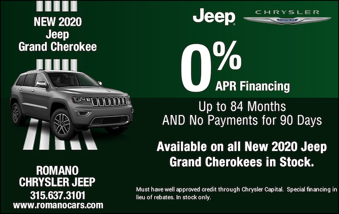 Special APR on All New 2020 Jeep Grand Cherokees