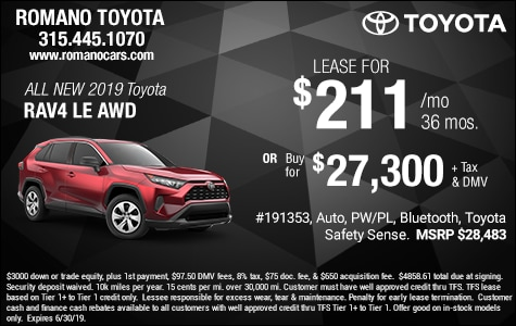 New 2019 Toyota Rav4 LE Specials