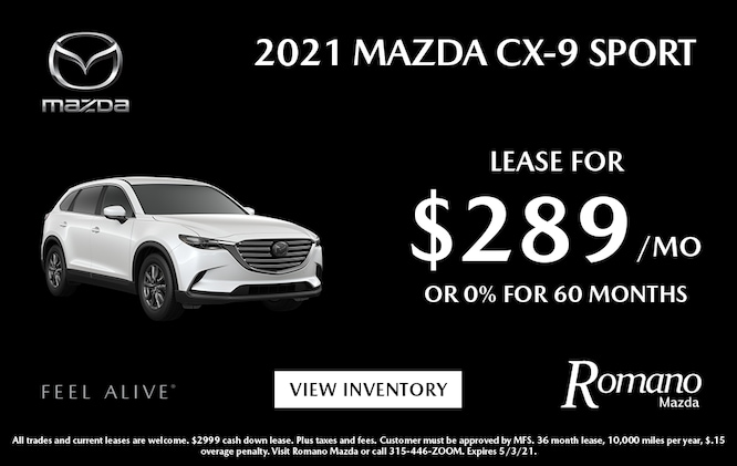 New  2021 Mazda CX-9 Leases
