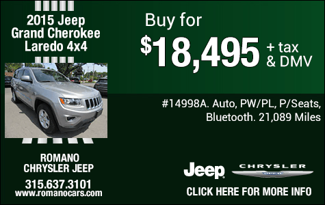 Used 2015 Jeep Grand Cherokee Laredo 4x4