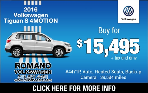 VW 2016 Tiguan S 4MOTION