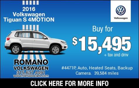 VW 2016 Tiguan S 4MOTION