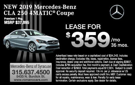 New 2019 Mercedes Benz CLA 250 4MATIC Coupe Leases