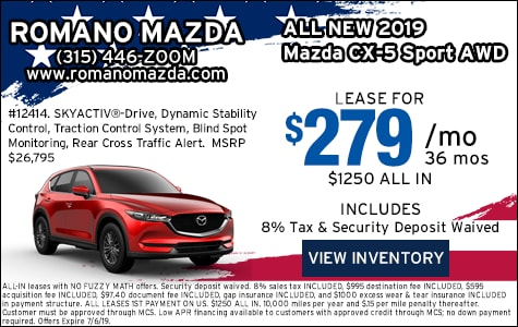 New 2019 Mazda CX-5 Sport AWD Leases