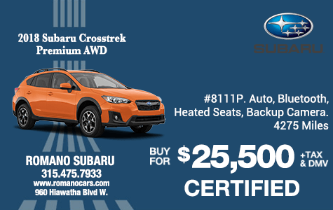 Certified Used 2018 Subaru Crosstrek Premium AWD