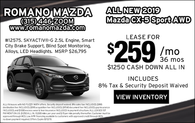 Lease Deals Near Me >> New 2019 Mazda Specials Lease Deals Near Me In Syracuse Ny