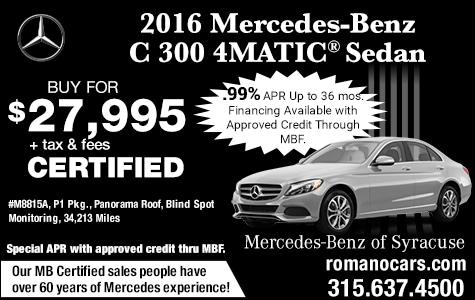 Mercedes Certified 2016 C 300 Sedan