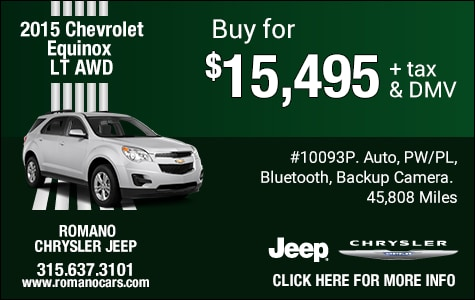 Used 2015 Chevy Equinox LT AWD