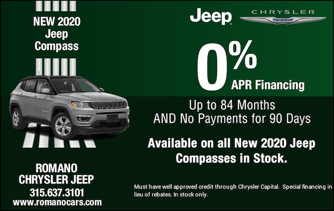 Special APR on New 2020 Jeep Compasses