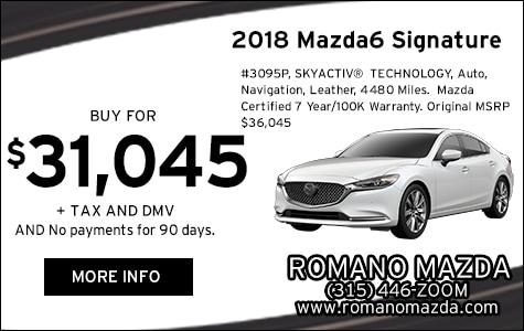 Certified 2018 Mazda6 Signature