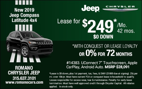 New 2019 Jeep Compass Latitude 4x4 Leases