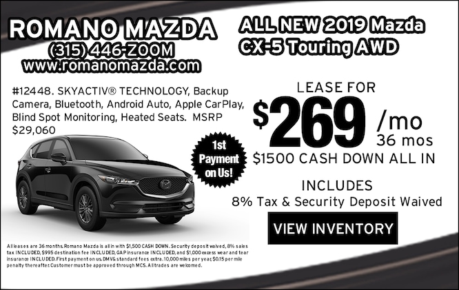 New 2019 Mazda CX-5 Touring AWD Leases
