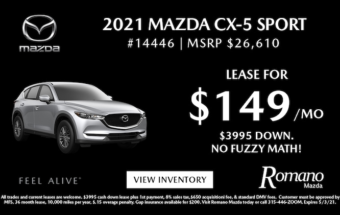 New 2021 Mazda CX-5 Sport Lease