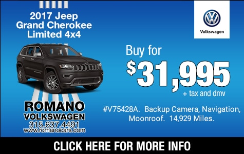 Used 2017 Jeep Grand Cherokee Limited 4x4