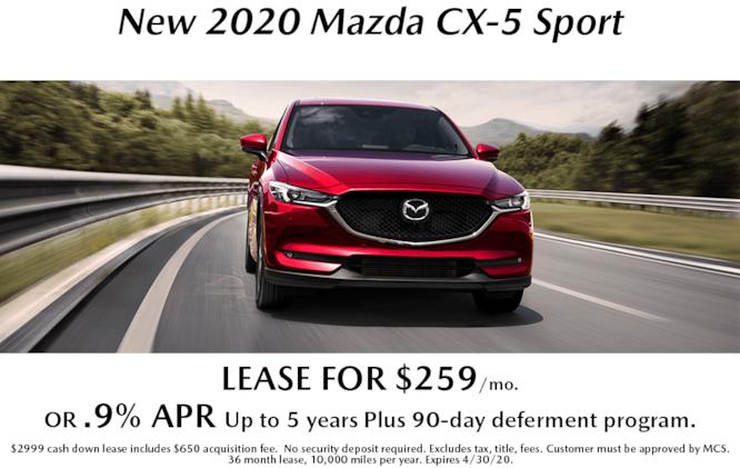 New 2020 CX-5 Sport